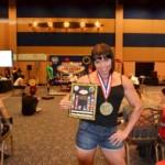 Мария Каланинас установила два мировых рекорда на чемпионате мира по пауэрлифтингу